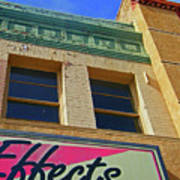 Pueblo Downtown-screened Effects Art Print