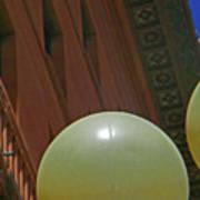 Pueblo Downtown--thatcher Building With Lamps 2 Art Print
