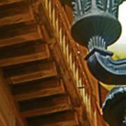 Pueblo Downtown Thatcher Building With Lamps Art Print