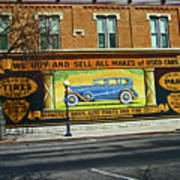 Pueblo Downtown--used Cars Art Print