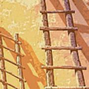 Pueblo Ladders Art Print