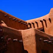 Pueblo Revival Style Architecture In Santa Fe Art Print