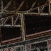 Pueblo-steel City--manufacturing Blueprint Art Print