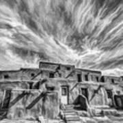 Pueblo Storm Clouds Art Print