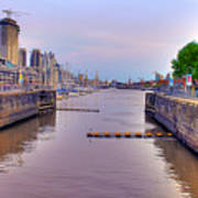 Puerto Madero Canal Art Print
