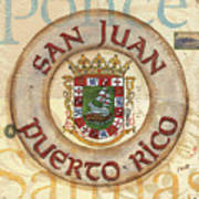 Puerto Rico Coat Of Arms Art Print by Debbie DeWitt