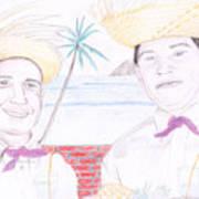 Puertorican Friends Art Print