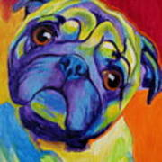 Pug - Lyle Art Print by Alicia VanNoy Call