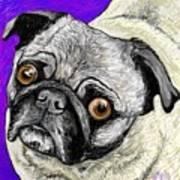 Olivia The Pug Art Print