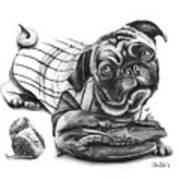 Pug Ruth  Art Print by Peter Piatt