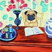 Pug Scholar Art Print