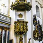 Pulpit Kalmar Cathedral Art Print