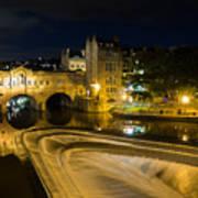 Pulteney Bridge At Night Art Print by Trevor Wintle