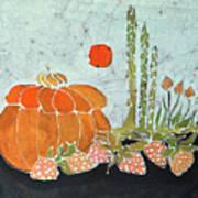 Pumpkin And Asparagus Art Print