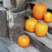 Pumpkin Autumn In Adirondacks Art Print by Kate  Leikin