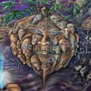 Pumpkin Morph Cycle Art Print