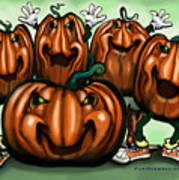 Pumpkin Party Art Print
