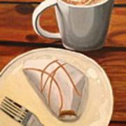 Pumpkin Scone And Pumpkin Latte Art Print