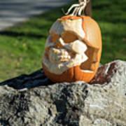 Pumpkin Skull Art Print