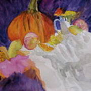 Pumpkin Still Life Art Print