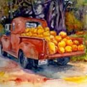 Pumpkin Truck Art Print