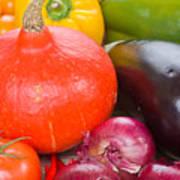 Pumpkin With  Vegetables Art Print
