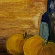 Pumpkins And Wine  Art Print by Steve Jorde