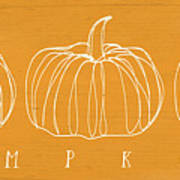 Pumpkins- Art By Linda Woods Art Print