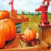 Pumps And Pumpkins Art Print