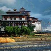 Punakha Dzong Art Print