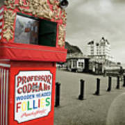 Punch And Judy Theatre On Llandudno Promenade Art Print