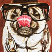 Punk Pug Art Print