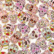 Punk Rock Pattern Art Print