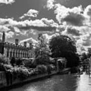 Punting, Cambridge. Art Print