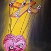 Puppeted Heart Art Print
