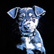 Puppy Dog Graphic Novel Drawing Art Print