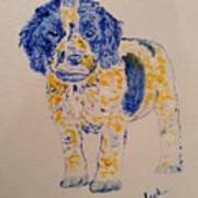 Puppy Stare Art Print