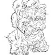 Puppy_printfilecopy Art Print