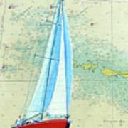 Pure Michigan Boating Art Print