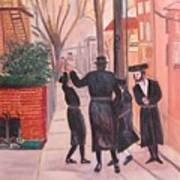 Purim In Boro Park Art Print by Carla Goodstein
