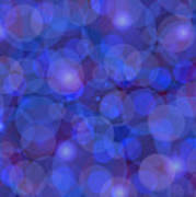 Purple And Blue Abstract Print by Frank Tschakert