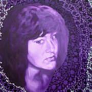 Purple and Lace Art Print