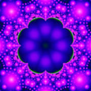 Purple And Pink Glow Fractal Art Print