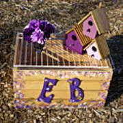 Purple Birdhouses 3 Art Print