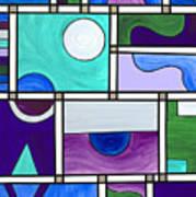 Purple-blue-green Abstract 1 Art Print