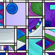 Purple-blue-green Abstract 3 Art Print