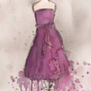 Purple Bow Dress Art Print by Lauren Maurer