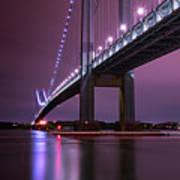 Purple Bridge Art Print