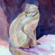 Purple Cat Art Print