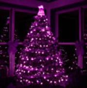 Purple Christmas Art Print